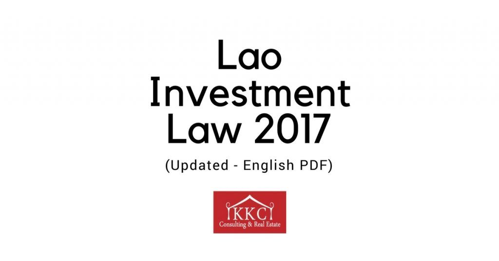 Lao Investment Law 2017