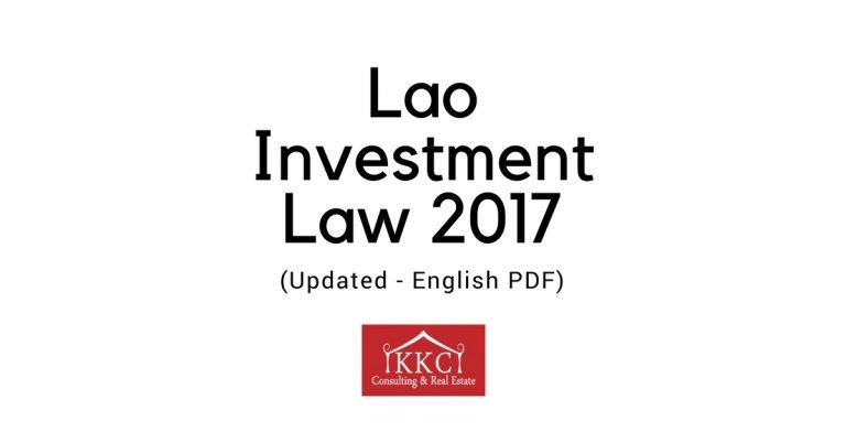 Lao Investment Law 2017 (Updated – English PDF)